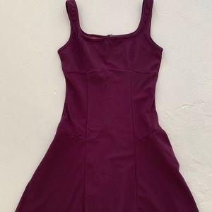 Purple Fit & Flare Skater Dress